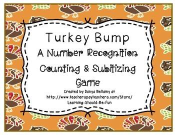 Turkey Bump - (a counting, adding, & subitizing game)