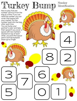 Thanksgiving Turkey Bump Number Identification
