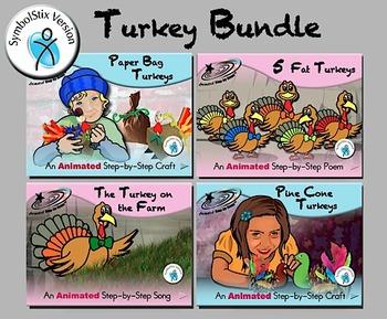 Turkey Bundle - Animated Step-by-Step Poems & Crafts SymbolStix