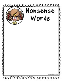 CVC Real and Nonsense Word Sort - Turkeys