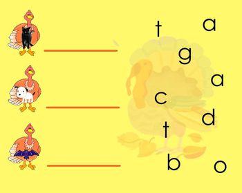 Turkey CVC Word Spelling