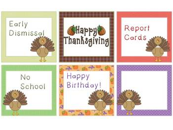 Turkey Calendar Cards
