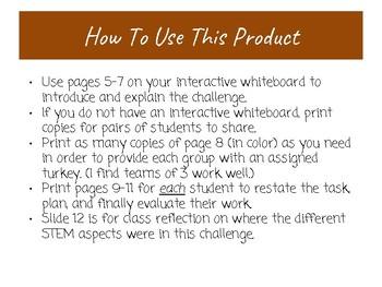 Turkey Camouflage STEM Challenge