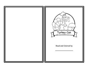 Turkey Can (Thanksgiving Emergent Reader)