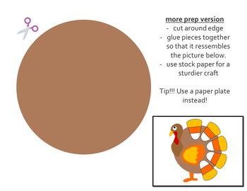 Turkey Candy Corn Paper Craft