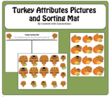 Turkey Cards for Sorting by Attribute: November/Thanksgivi