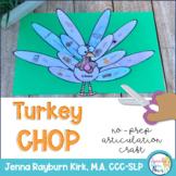 Turkey Chop: No-Prep Articulation Craft