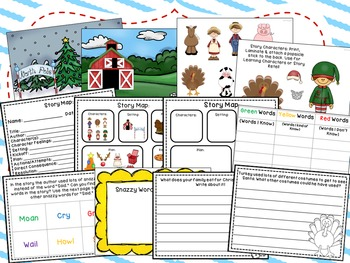 Turkey Claus Book Companion and Comprehension Packet