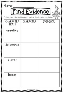 Turkey Claus - Character Trait Activities