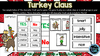 Turkey Claus - Character Traits Game