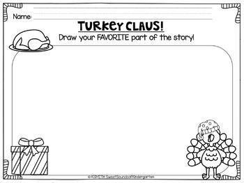 Turkey Claus! Literacy Activities