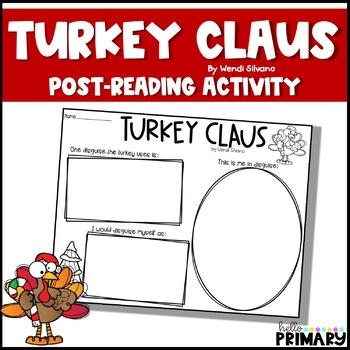Turkey Claus: Reading Response Activity