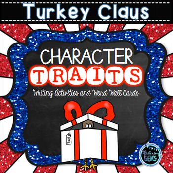 Turkey Claus - Word Wall Cards and Writing