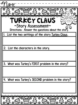 Turkey Claus by Wendi Silvano Literacy Companion