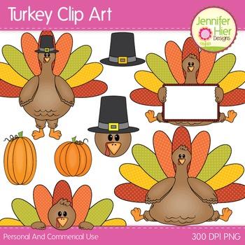 Turkey Clip Art:  Clipart for Thanksgiving