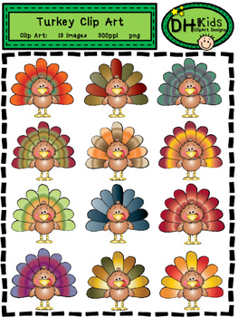 Turkey Clip Art - Personal and Commercial Use