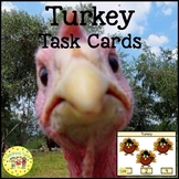 Turkey Count and Clip Holiday Task Cards