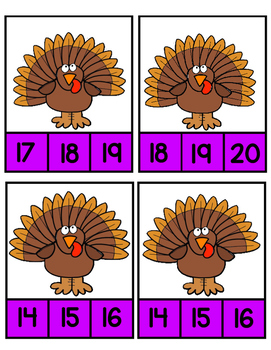 Turkey Clip Cards