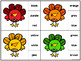 Turkey Clip Cards -- Alphabet, Counting, Shapes, and Colors
