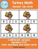 Turkey Clip Cards (math center/activity)