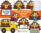 Turkey ClipArt - Cute School Turkey Clip Art - Back to Sch