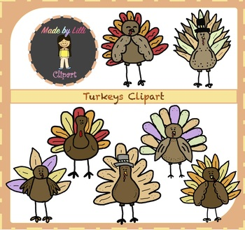 Turkey Clipart / Thanksgiving Clipart {Turkey Clipart}