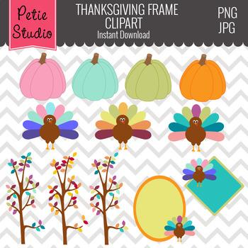 Turkey Clipart // Fall Pumpkin Clipart // Thanksgiving Cli