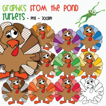 Turkey Clipart / Graphics For Teaching & Commercial Use