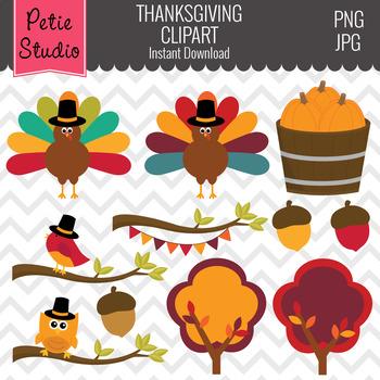 Turkey Clipart, Thanksgiving Clipart, Fall Tree Clipart - Fall140