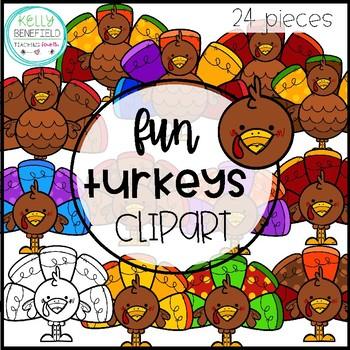 Turkey Clipart by Kelly B