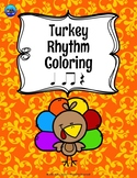 Turkey Color By Music Note Rhythm Coloring - Quarter Rest