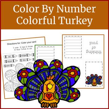Kindergarten Math Worksheets: Turkey Color By Number