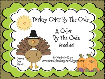 Turkey Color By The Code Freebie