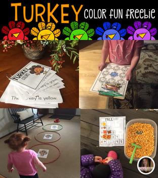 Turkey Color Fun and Activities for Preschool (Freebies)