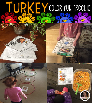 Turkey and Thanksgiving Color Fun and Activities for Preschool (Freebies)