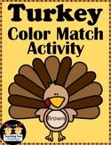 Turkey Color Match Activity