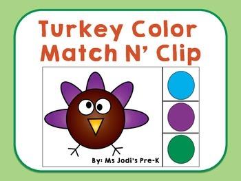 Turkey Color Match N' Clip