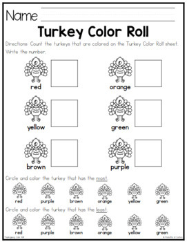 Turkey Color Roll Game