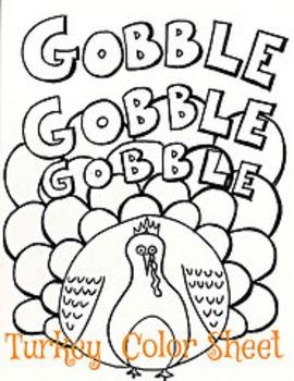 Thanksgiving Turkey Color Sheet