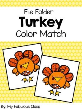 Turkey Color Sort File Folder