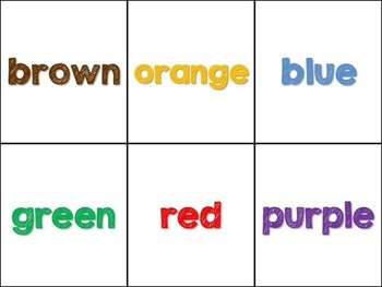 Turkey Color Word Matching