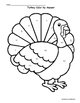 Thanksgiving Math: Turkey Color by Answer Evaluating Functions- Easy
