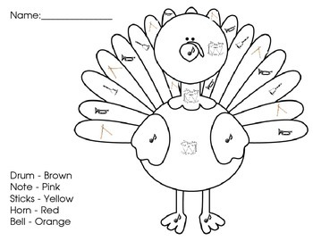 Turkey Color by Classroom Instrument