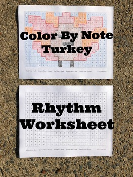 Turkey Color by Note - Thanksgiving