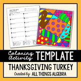 Coloring Activity Template: Turkey (Personal Use Only)