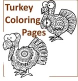 Turkey Coloring Pages- Thanksgiving Theme Coloring Sheets