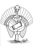 Turkey Coloring Sheet