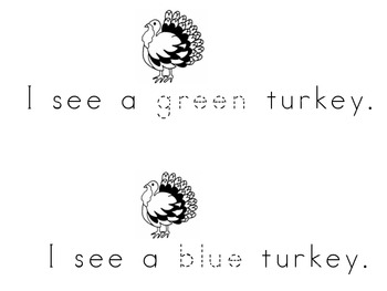 Turkey Colors Emergent Reader