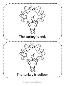 Turkey Colors Emergent Reader Book
