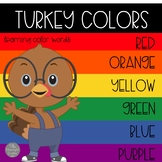 Turkey Colors Emergent Reader with Literacy and Math Activities